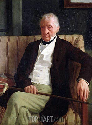 Degas | Portrait of Hilaire Degas, Grandfather of the Artist, 1857