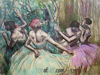 Dancers in the Wings, c.1899 | Degas| Painting Reproduction
