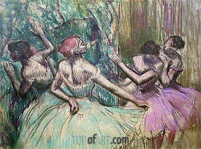 Degas | Dancers in the Wings, c.1899