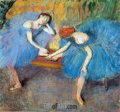 Degas | Two Dancers at Rest (Dancers in Blue), c.1898