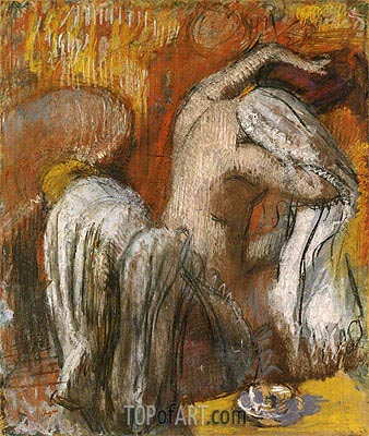 Woman Drying Herself, undated | Degas | Painting Reproduction