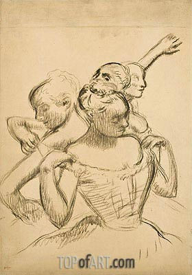 Degas | Group of Four Dancers, c.1902