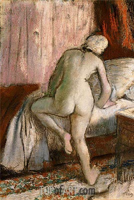 Bedtime, c.1883 | Degas | Painting Reproduction