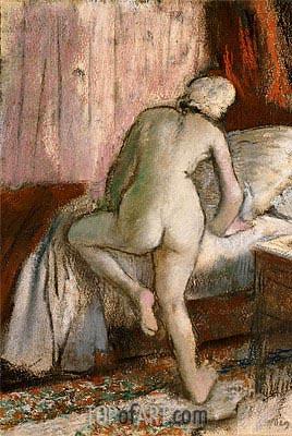 Degas | Bedtime, c.1883