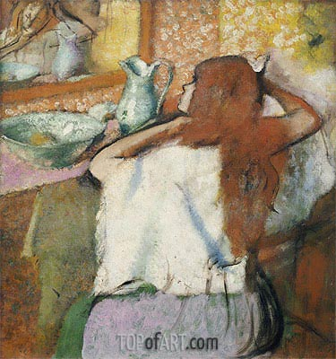 Woman at her Toilet, c.1895/00 | Degas| Painting Reproduction