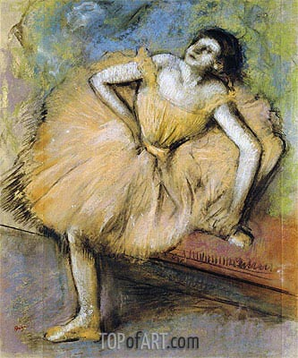 Seated Dancer, c.1894 | Degas | Painting Reproduction