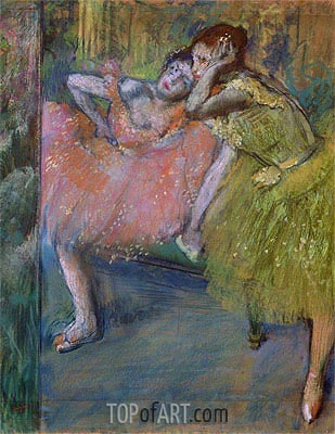 Two Dancers in the Foyer, c.1901 | Degas | Painting Reproduction