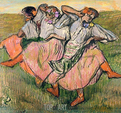 Three Russian Dancers, undated | Degas| Painting Reproduction
