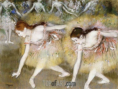 Dancers Bending Down, undated | Degas | Gemälde Reproduktion
