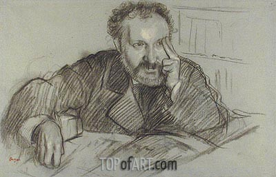 Edmond Duranty, undated | Degas | Painting Reproduction