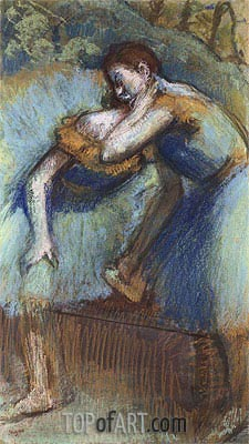 Two Dancers, c.1891 | Degas | Painting Reproduction