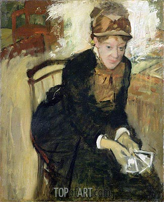 Portrait of Mary Cassatt, c.1880/84 | Degas| Painting Reproduction