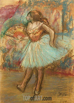 Dancer with a Fan, c.1895/00 | Degas| Painting Reproduction