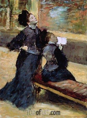 Besuch eines Museums, c.1879/80 | Degas | Gemälde Reproduktion