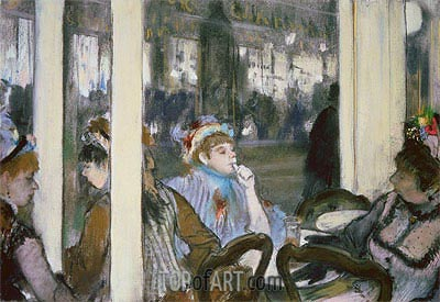 Women on a Cafe Terrace, 1877 | Degas| Painting Reproduction