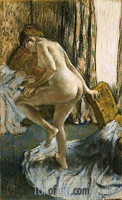 After the Bath, c.1883 | Degas| Painting Reproduction