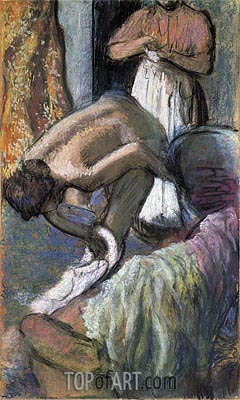 Breakfast After the Bath (Young Woman Drying Herself), c.1894 | Degas | Painting Reproduction