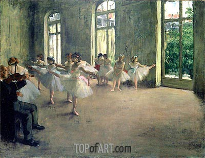 The Rehearsal, c.1873/78 | Degas| Painting Reproduction
