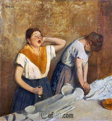 The Laundresses (The Ironing), c.1874/76 | Degas | Painting Reproduction