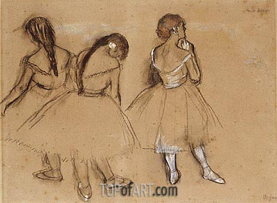 Three Dancers, undated | Degas| Painting Reproduction