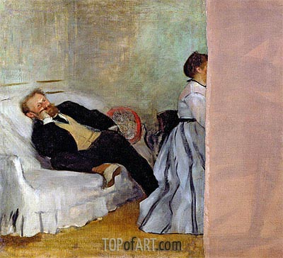 Monsieur and Madame Edouard Manet, c.1868/69 | Degas| Painting Reproduction