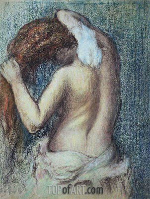 Woman at her Toilet, c.1895 | Degas | Painting Reproduction