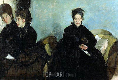 Duchesa di Montejasi with Her Daughters, Elena and Camilla, 1876 | Degas| Painting Reproduction