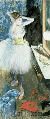 Dancer in Her Dressing Room, c.1879 | Degas | Painting Reproduction
