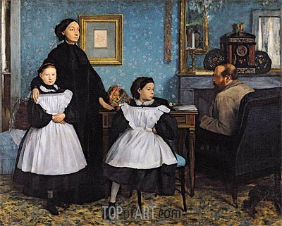 The Bellelli Family, c.1858/67 | Degas| Gemälde Reproduktion