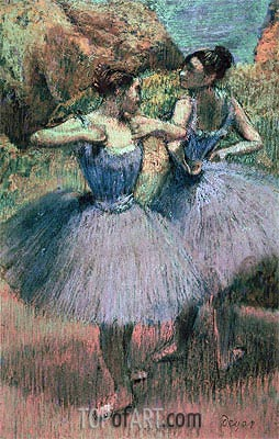Dancers in Violet, undated | Degas | Painting Reproduction