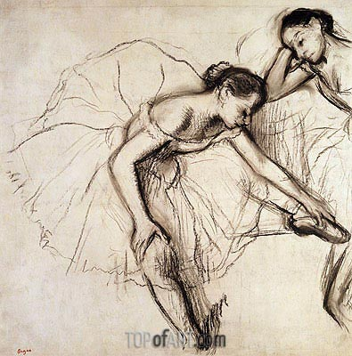 Two Dancers Resting, undated | Degas | Painting Reproduction