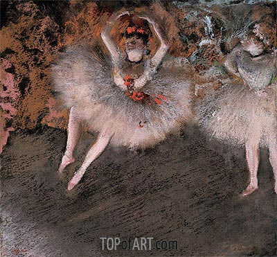 The Pas Battu, c.1879 | Degas| Painting Reproduction