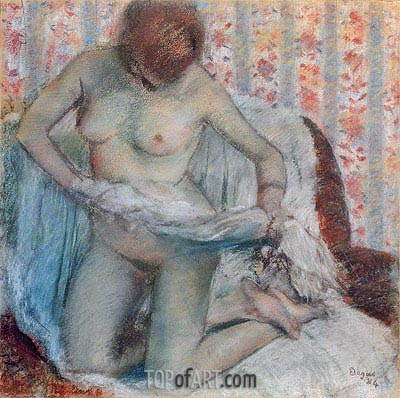 Toilet of a Woman, 1884 | Degas | Painting Reproduction
