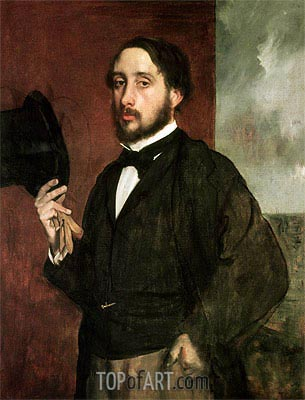 Self Portrait, c.1862 | Degas | Painting Reproduction