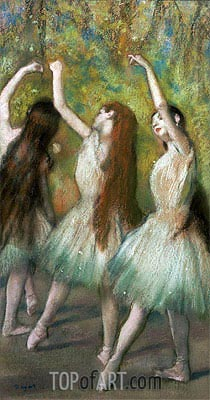 Green Dancers, 1878 | Degas| Painting Reproduction