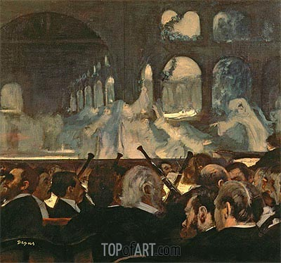 The ballet scene from Meyerbeer's opera 'Robert le Diable', 1876 | Degas | Painting Reproduction