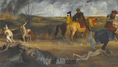 Scene of War in the Middle Ages, c.1865 | Degas| Painting Reproduction