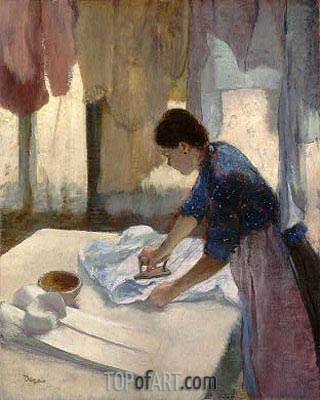Woman Ironing, c. 1876/87 | Degas | Painting Reproduction