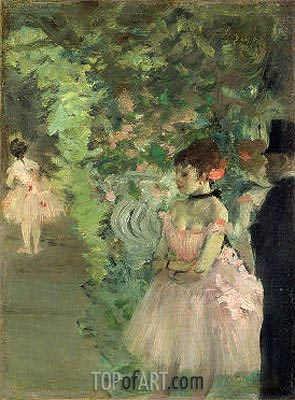 Dancers Backstage, c.1876/83 | Degas | Painting Reproduction