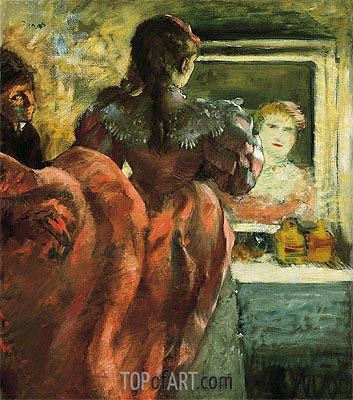Actress in Her Dressing Room, c.1879 | Degas| Painting Reproduction
