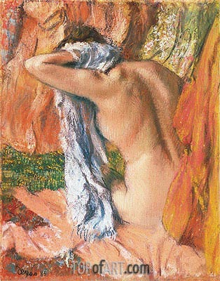 After the Bath, c.1890/93 | Degas| Painting Reproduction