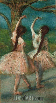 Dancers in Pink, c.1883 | Degas | Painting Reproduction