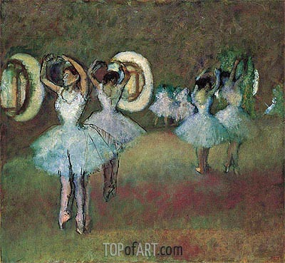 Dancers in the Rotunda at the Paris Opera, 1895 | Degas | Painting Reproduction