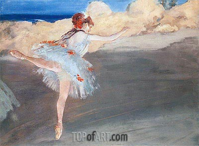 The Star: Dancer on Point, c.1878 | Degas | Painting Reproduction