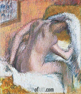 Woman Drying Her Hair, c.1905 | Degas| Painting Reproduction