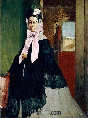 Therese Degas, 1863 | Degas | Painting Reproduction