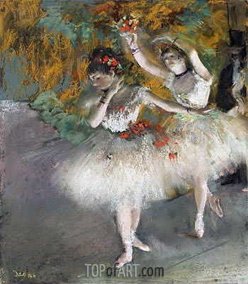 Two Dancers Entering the Stage, c.1877/78 | Degas| Painting Reproduction