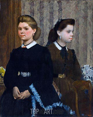 The Bellelli Sisters (Giovanna and Giuliana Bellelli), c.1865/66 | Degas | Painting Reproduction