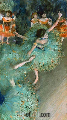 Swaying Dancer (Dancer in Green), c.1877/79 | Degas | Painting Reproduction