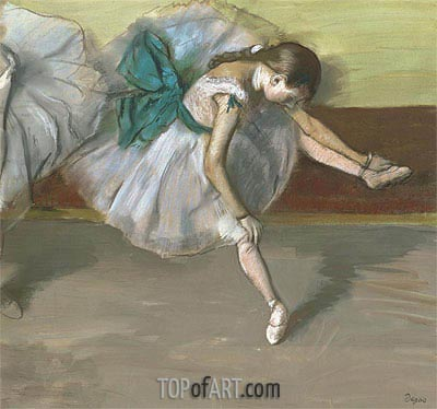 Dancer at Rest, c.1879 | Degas| Painting Reproduction